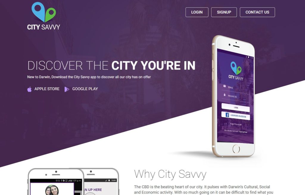 City Savvy - Mobile Phone app for Darwin City